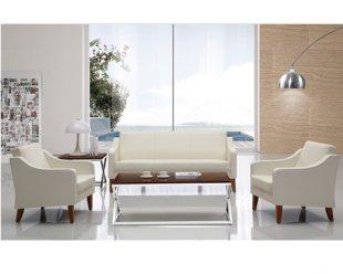 SF-W021实木办公沙发